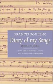 Journal de mes mélodies by Francis Poulenc