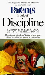 Cover of: Parents book of discipline by Barbara R. Bjorklund