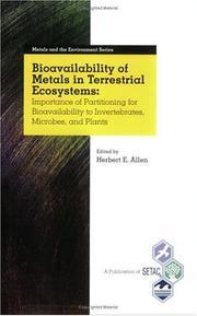 Bioavailability of Metals in Terrestrial Ecosystems