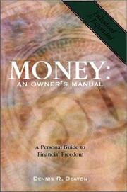 Money : An Owners Manual PDF