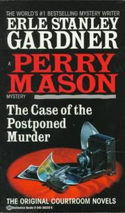 Cover of: The Case of the Postponed Murder by Erle Stanley Gardner