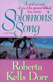 Solomon&#39;s song by Roberta Kells Dorr