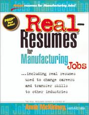 Real-Resumes for Manufacturing Jobs PDF