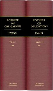 A treatise on the law of obligations, or contracts by Robert Joseph Pothier