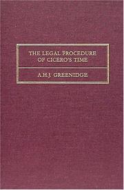 The legal procedure of Cicero's time PDF