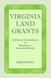 Virginia land grants by Harrison, Fairfax