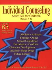 Cover of: Individual Counseling Activities for Children by Robert P. Bowman