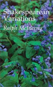 Cover of: Shakespearean variations by Ralph M. McInerny