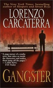 Cover of: Gangster by Lorenzo Carcaterra