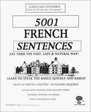 5001 French Sentences PDF