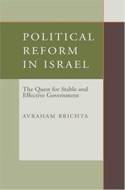 Political Reform in Israel PDF