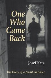 One who came back by Josef Katz