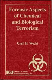 Forensic Aspects Of Chemical And Biological Terrorism PDF