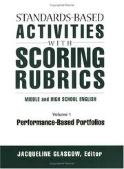 Standards-Based Activities With Scoring Rubrics: Middle and High School English PDF