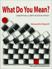 What do you mean? by Alessandro Magnoli