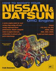 How to Modify Your Nissan/Datsun OHC Engine by Frank Honsowetz
