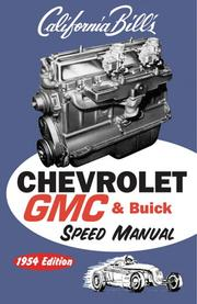 Chevy GMC Buick Speed Manual by Bill Fisher