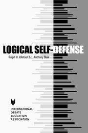Logical self-defense by Johnson, Ralph H.