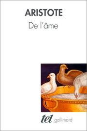 Cover of: De l'âme by Aristotle