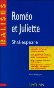 Roméo et Juliette by William Shakespeare