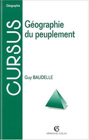 Geographie du peuplement by Guy Baudelle