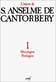 Monologion by Anselm of Canterbury