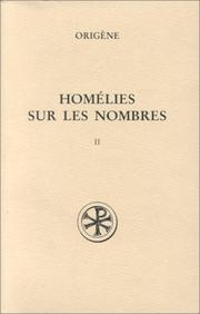 Homilies on Numbers by Origen