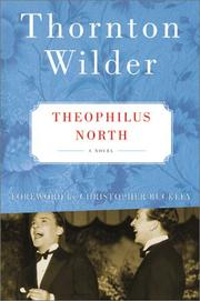 Theophilus North by Thornton Wilder