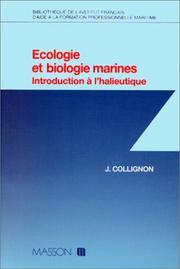 Ecologie et biologie marines PDF