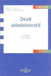 Droit administratif by Jean Rivero