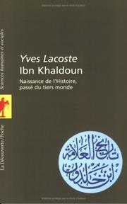 Ibn Khaldoun by Yves Lacoste