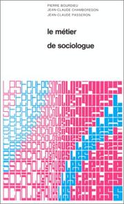Le métier de sociologue by Pierre Bourdieu