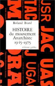 Histoire du mouvement anarchiste en France