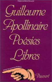 Poems by Guillaume Apollinaire