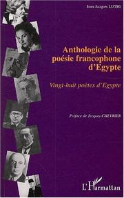 Anthologie de la poésie francophone dEgypte