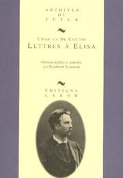 Lettres  Elisa by Charles de Coster