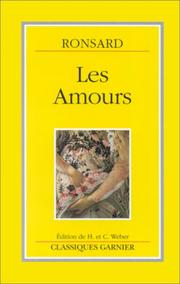 Les amours by Pierre de Ronsard