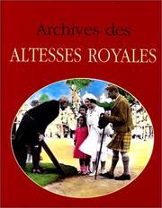 Archives des altesses royales PDF