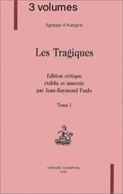 Les tragiques by Agrippa d&#39; Aubign