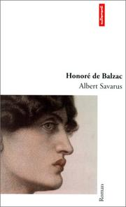 Albert Savarus by Honoré de Balzac