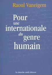 Pour une internationale du genre humain PDF