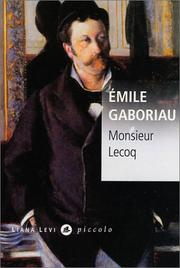 Cover of: Monsieur Lecoq by Emile Gaboriau
