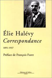Correspondance (1891-1937) by lie Halvy