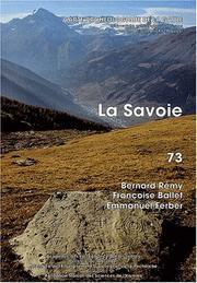 La Savoie (Carte archeologique de la Gaule) PDF