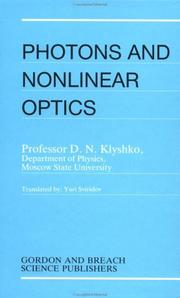 Photons and Non-Linear Optics by D. N. Klyshko