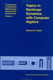 Topics in nonlinear dynamics with computer algebra PDF