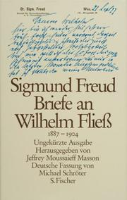 Cover of: Briefe an Wilhelm Fliess, 1887-1904 by Sigmund Freud