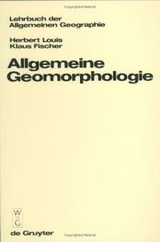 Allgemeine Geomorphologie by Herbert Louis