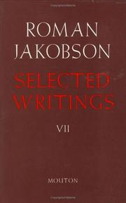 Selected Writings by Jakobson, Roman
