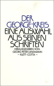 Der George-Kreis by Georg Peter Landmann